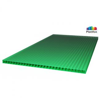 Сотовый поликарбонат ROYALPLAST зелёный 2100х12000х10мм