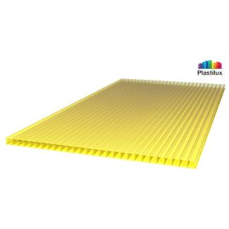 Сотовый поликарбонат SUNNEX жёлтый 2100х6000х6мм