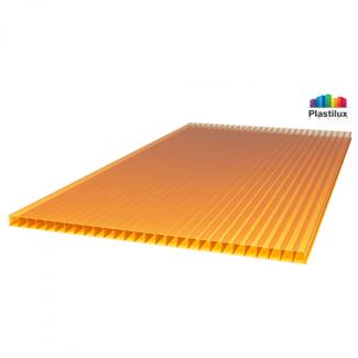 Сотовый поликарбонат ULTRAMARIN оранжевый 2100х6000х4мм