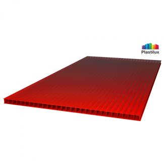 Сотовый поликарбонат ULTRAMARIN красный 2100х12000х4мм