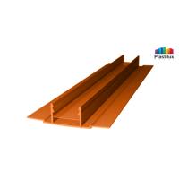 Профиль для поликарбоната ROYALPLAST HCP-D база янтарь 4-10мм 6000мм