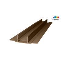 Профиль для поликарбоната ROYALPLAST HCP-D база бронза-серая 4-10мм 6000мм