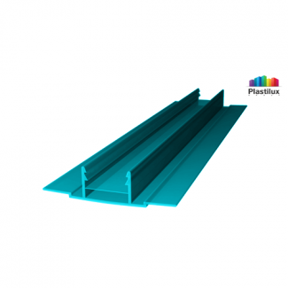 Профиль для поликарбоната ROYALPLAST HCP-D база бирюза 4-10мм 6000мм