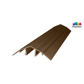 Профиль для поликарбоната ROYALPLAST HCP-U крышка бронза-серая 4-10мм 6000мм