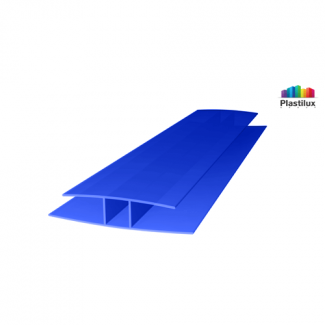 Профиль для поликарбоната ROYALPLAST HP соединительный синий 10мм 6000мм