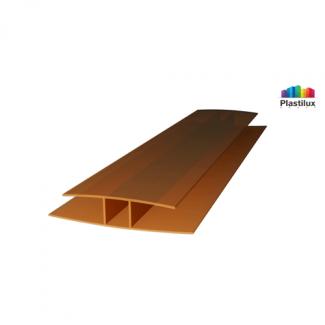 Профиль для поликарбоната ROYALPLAST HP соединительный бронза 4мм 6000мм