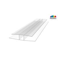 Профиль для поликарбоната ROYALPLAST HP соединительный прозрачный 4мм 6000мм