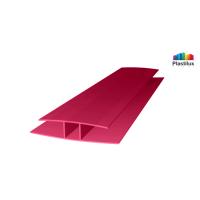 Профиль для поликарбоната ROYALPLAST HP соединительный гранат 4мм 6000мм