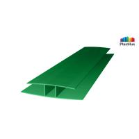 Профиль для поликарбоната ROYALPLAST HP соединительный зелёный 4мм 6000мм