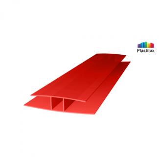 Профиль для поликарбоната ROYALPLAST HP соединительный красный 4мм 6000мм