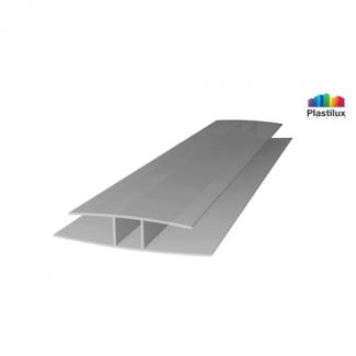 Профиль для поликарбоната ROYALPLAST HP соединительный серебро 6мм 6000мм