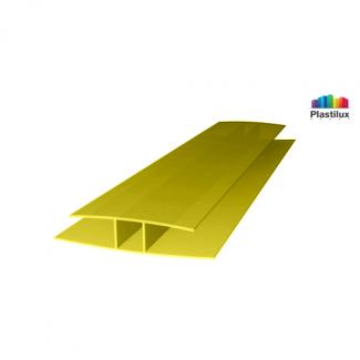 Поликарбонатный профиль ROYALPLAST HP соединительный жёлтый 4мм 6000мм