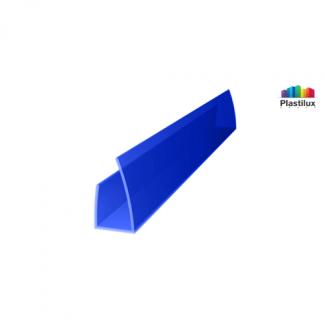 Поликарбонатный профиль ROYALPLAST UP торцовый синий 8мм 2100мм
