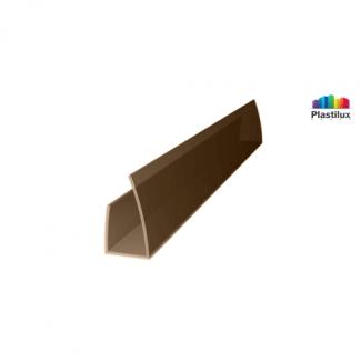 Профиль для поликарбоната ROYALPLAST UP торцевой бронза-серая 10мм 2100мм