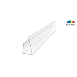 Поликарбонатный профиль ROYALPLAST UP торцовый прозрачный 6мм 2100мм