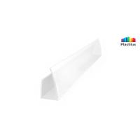 Поликарбонатный профиль ROYALPLAST UP торцовый белый-матовый 8мм 2100мм