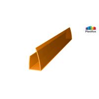Профиль для поликарбоната ROYALPLAST UP торцевой оранжевый 6мм 2100мм