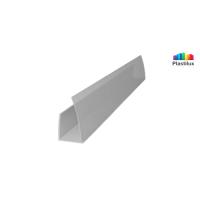 Поликарбонатный профиль ROYALPLAST UP торцовый серебро 10мм 2100мм