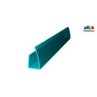 Профиль для поликарбоната ROYALPLAST UP торцевой бирюза 6мм 2100мм